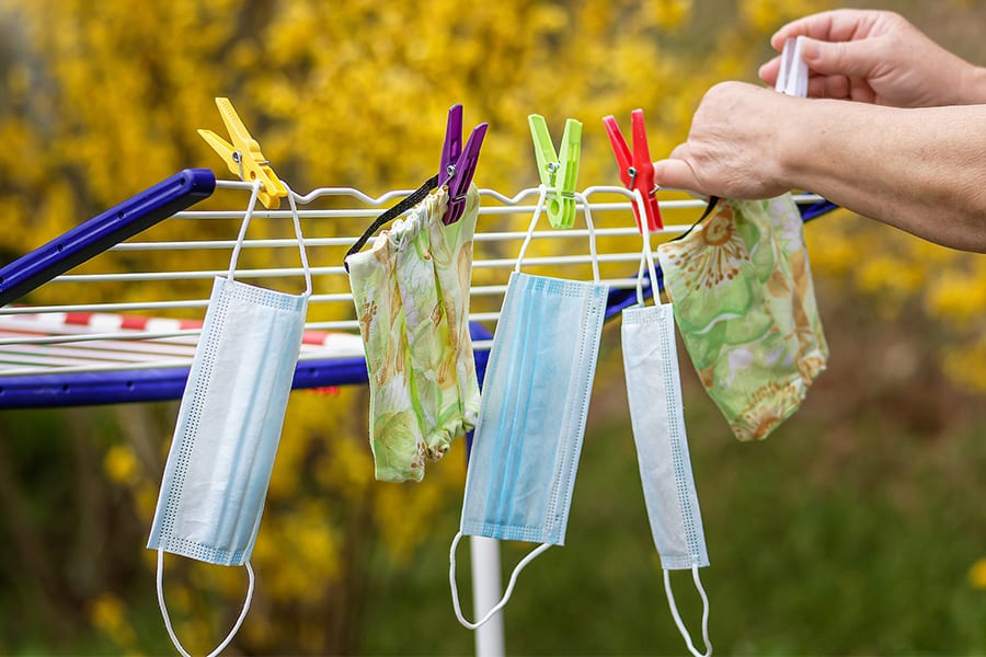 Drying face masks
