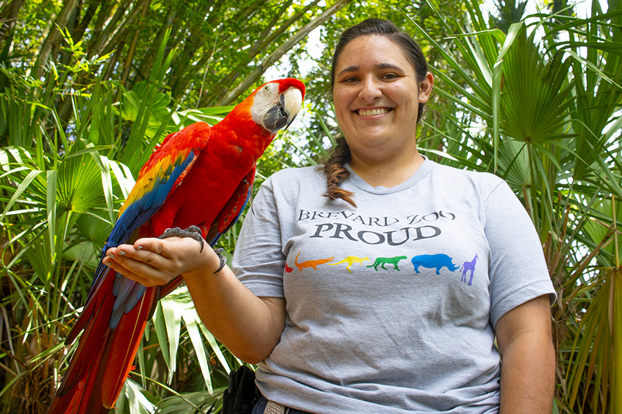 keeper with macaw