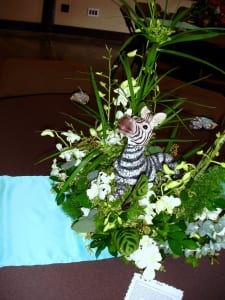 Zoo themed table decorations