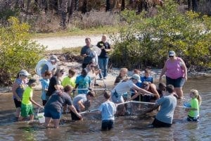 Group participating in Indian River Lagoon Exploration