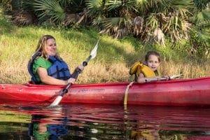 Girls in a kayak