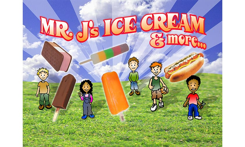 Mr. J's Ice Cream logo