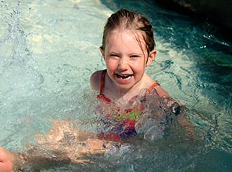Girl smiling in water