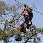 Ziplining at Treetop Trek